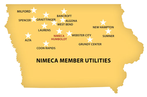 Iowa Map of NIMECA Members