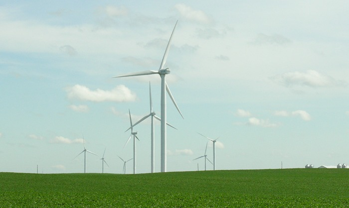 Crosswind Energy wind turbines, Ayrshire, Iowa