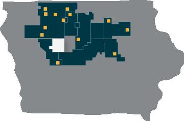 Calhoun County REC map