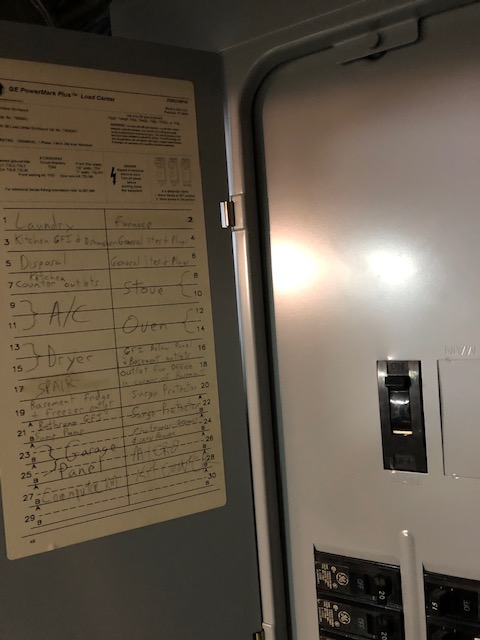 Update labeling on your breaker box