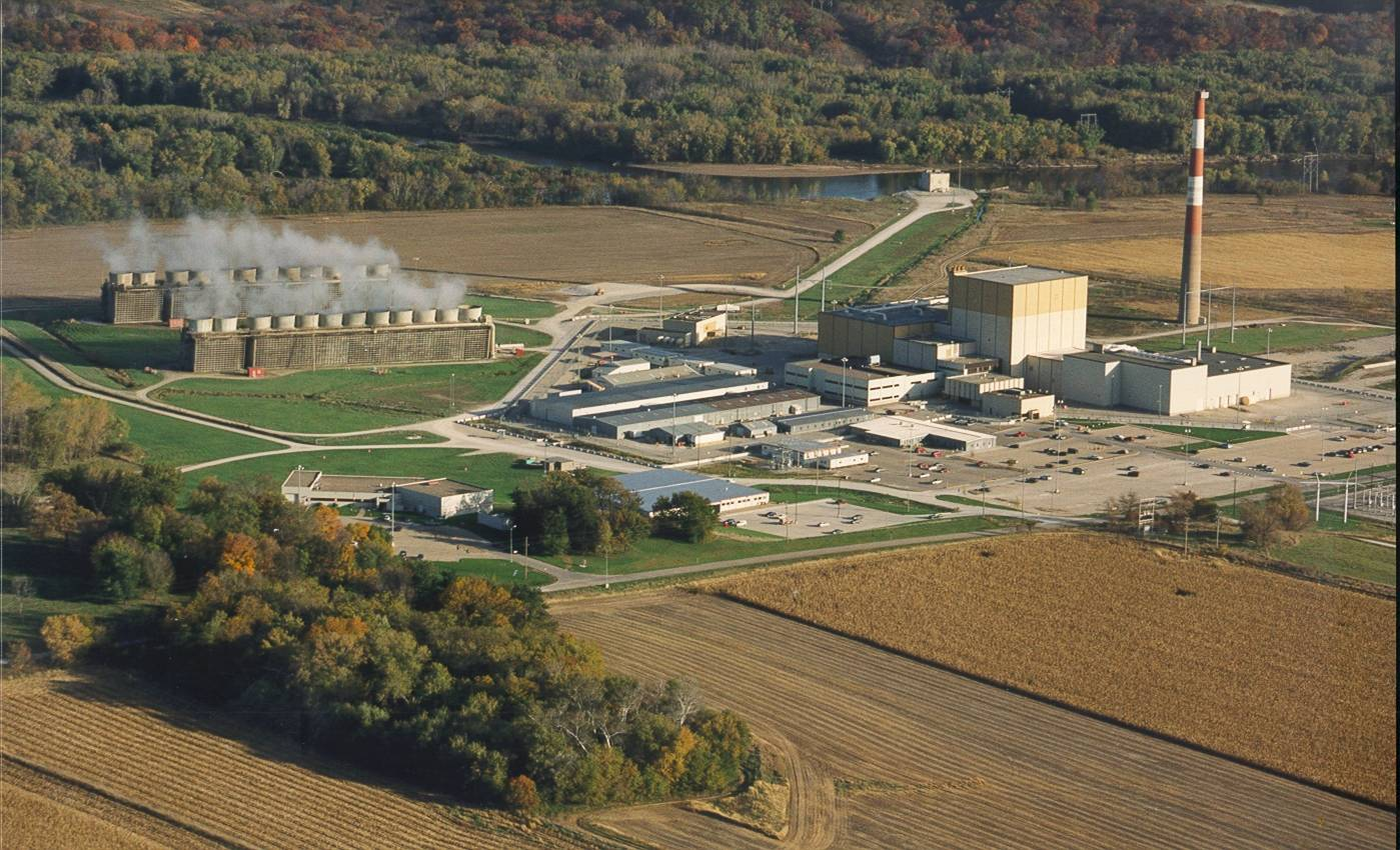 aerial image Duane Arnold Energy Center