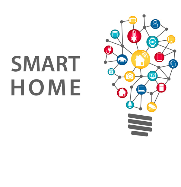 smart home light bulb with links